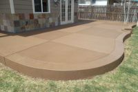 Sandstone Colored Concrete Patio. | Back Yard | Pinterest ...