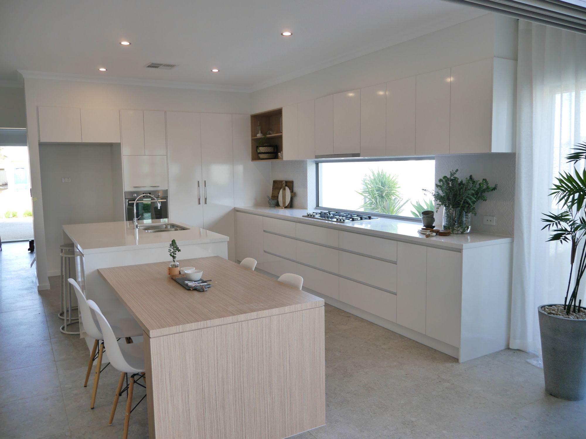 Contemporary Coastal Kitchen Essastone Benchtops Polar