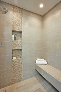 Bathroom shower accent wall tile - Legno Small Herringbone ...