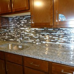 Kitchen Backsplash Glass Tiles Roll Cling Film Tin Foil Dispenser Tile Backsplashes Pictures Metal And White