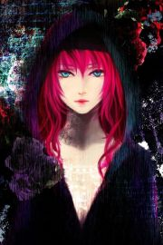 bright pink haired girl. kinda