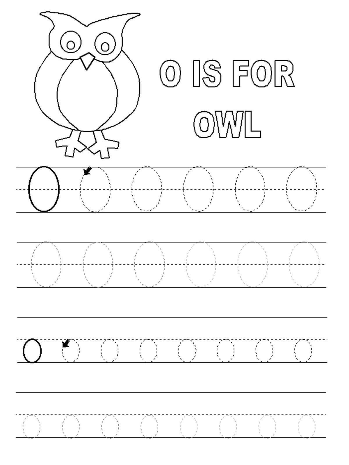 Letter O Worksheets For Preschool