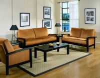 Simple Living Room Wood Furniture Design with Wall Mounted