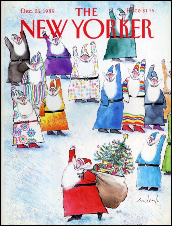 Ronald Searle The New Yorker cover Dec25 1989 Cover