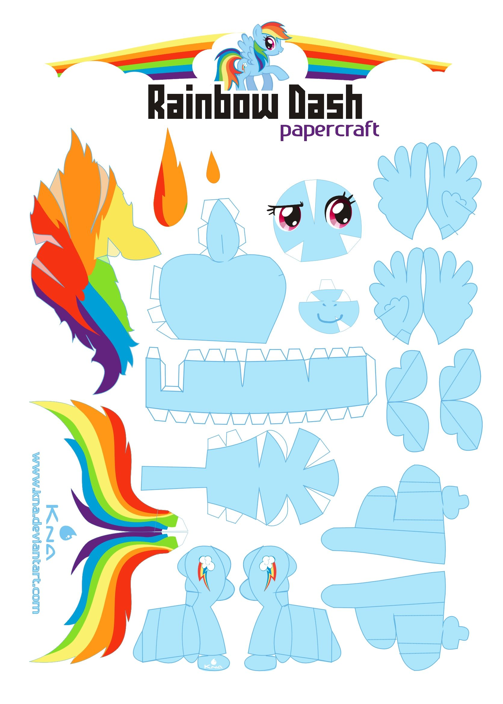 Rainbow Dash And Other Mlp Characters In Paper