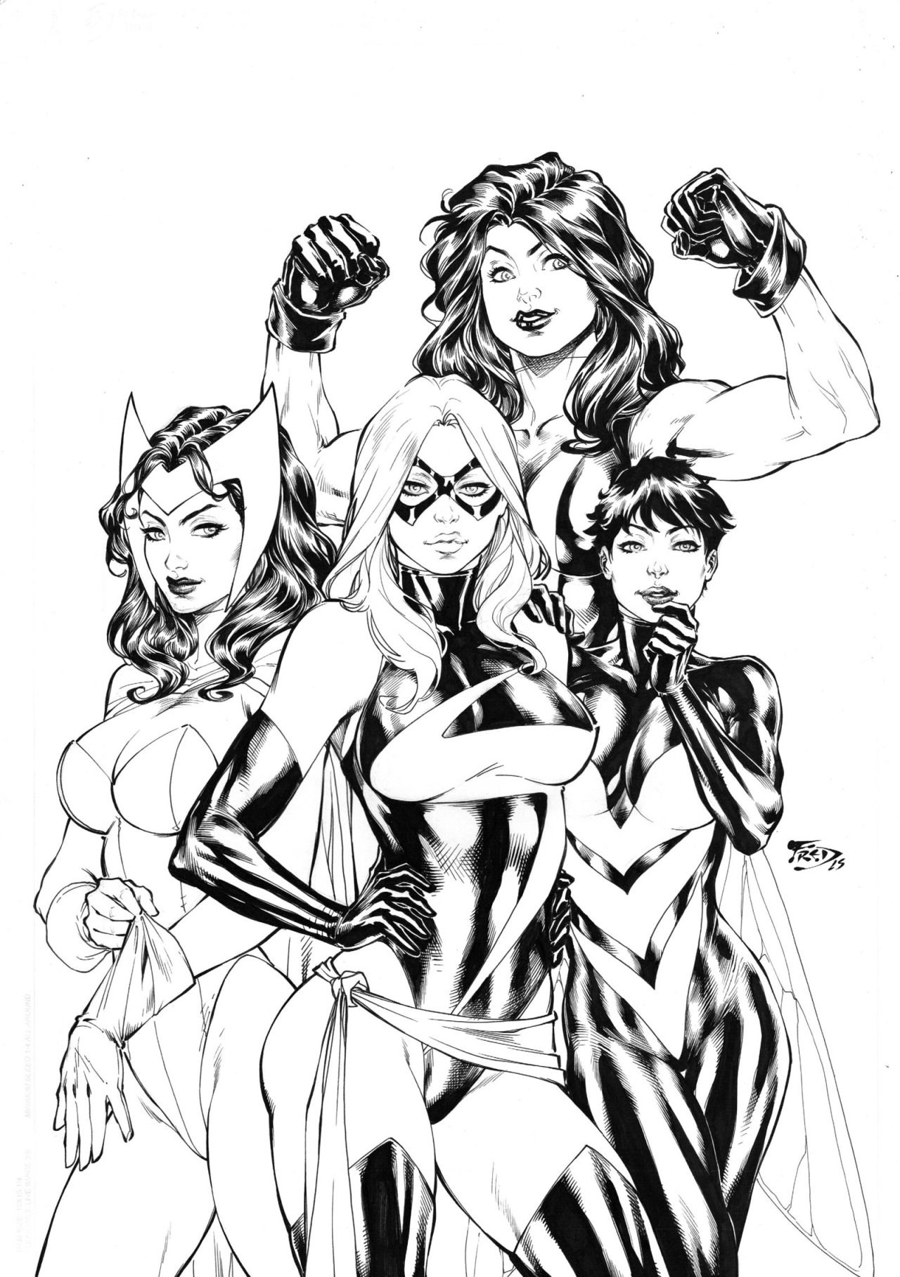 Avengers Girls Fred Benes