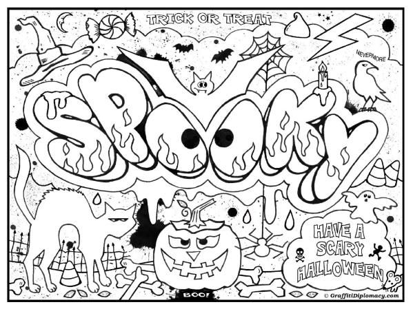 Pics For > Graffiti Words Coloring Pages For Teenagers