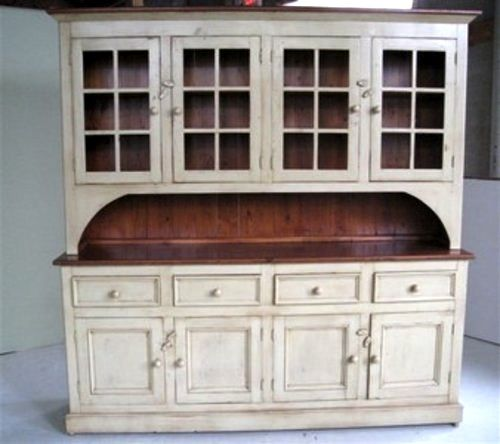 Country Style White Kitchen Hutch  Kitchen hutch Country