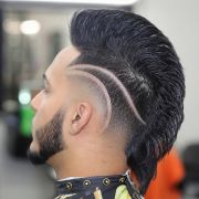 mohawk & freestyle part men's hairstyles 2016