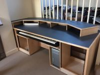 Recording Studio Furniture - Custom built Maple desk with ...