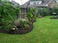 New landscaping along side fence | Lawn and Garden Ideas ...