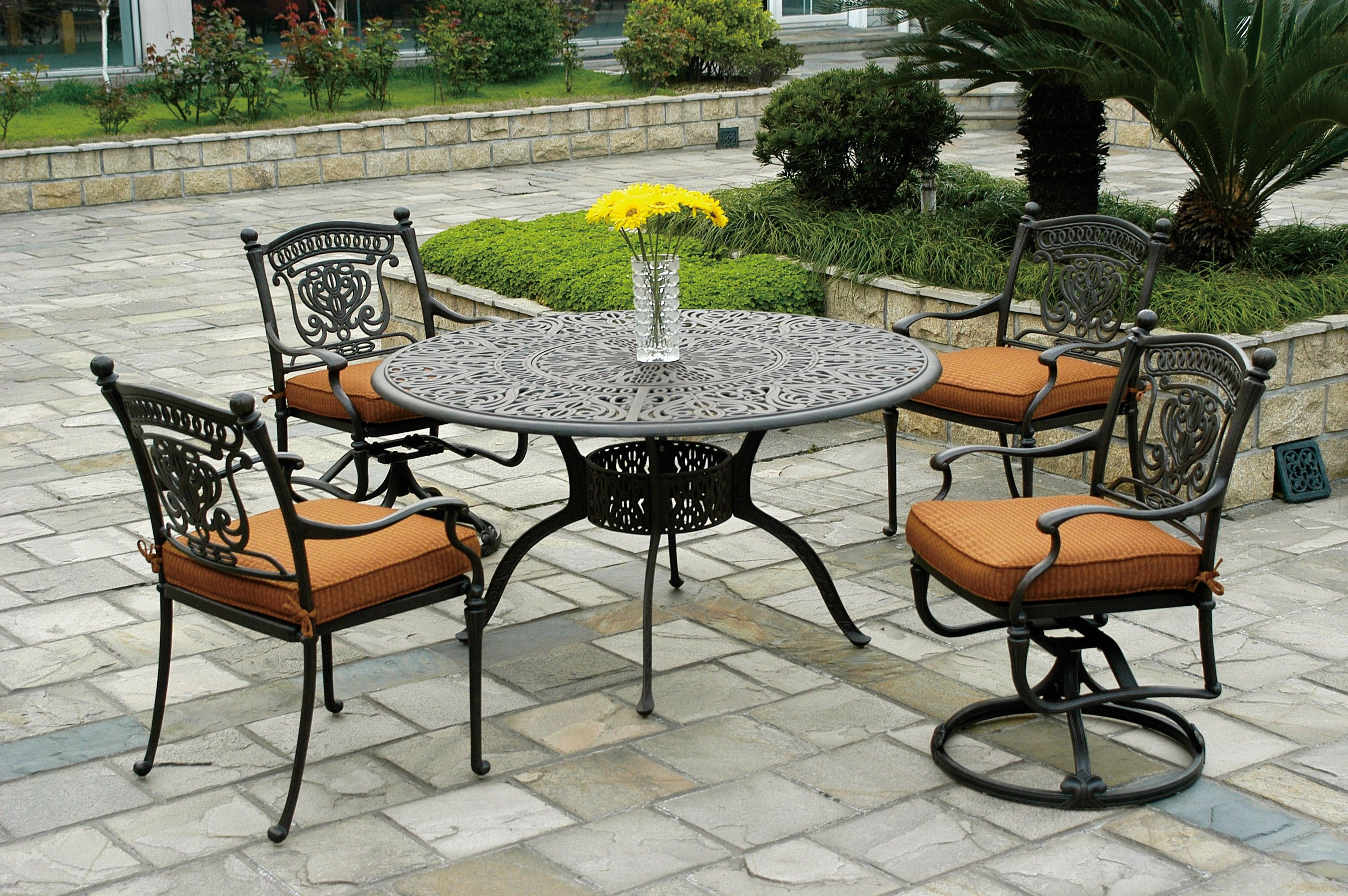 Cast Iron Patio Set Table Chairs Garden Furniture  http