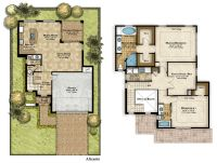 two story house plans 3d