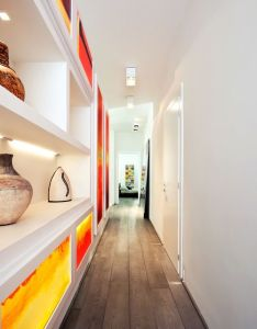 Apartment narrow hallway design with open storage inside the celio residence amazing modern interior designs also justthedesign on tumblr  melt pinterest hall architecture rh za