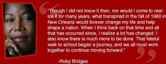 Ruby Bridges Quotes Prepossessing Famous Quotes Ruby Bridges Picture