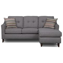 Marco Gray Chaise Sofa Small Scale Apartment Mercury Row Leilani Reversible