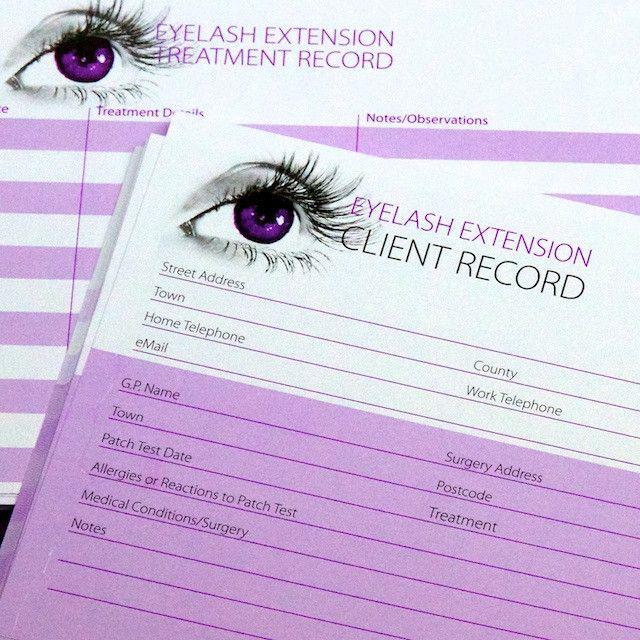 Eyelash Extension Client Record Cards By Eyelash Emporium The Eyelash Emporium Salon