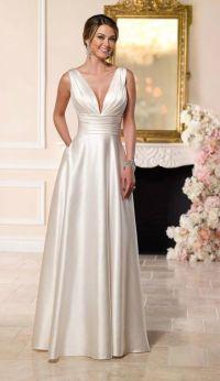 Simple Elegant Satin Wedding Dress for Older Brides Over ...