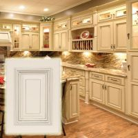 Heritage White Cabinets with Dark Glaze. These light ...
