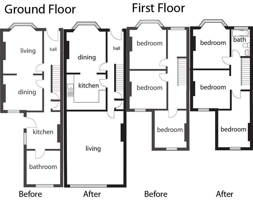 floorplans for adding an upstairs bathroom | floor plan