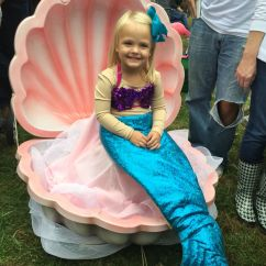 Clam Shell Chair Ergonomic Living Room Chairs Homemade Diy Halloween Costume. Mermaid In A Shell.   Costumes Pinterest ...