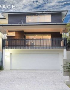 Concrete modern house exterior with balcony  landscaped garden also pine street bulimba of homes pinterest rh