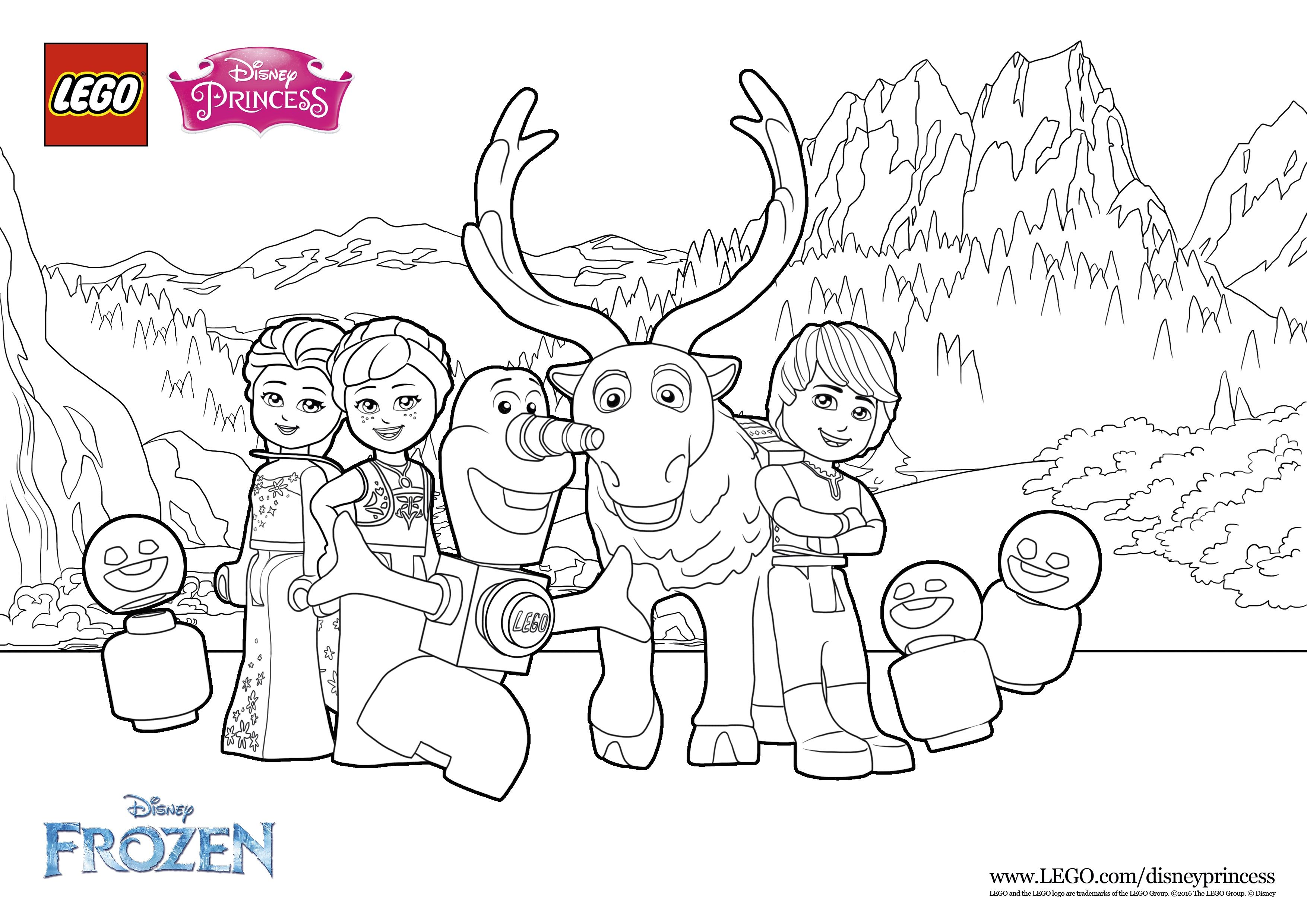 Create Your Own Perfect Frozen Picture Lego® Coloring Sheets
