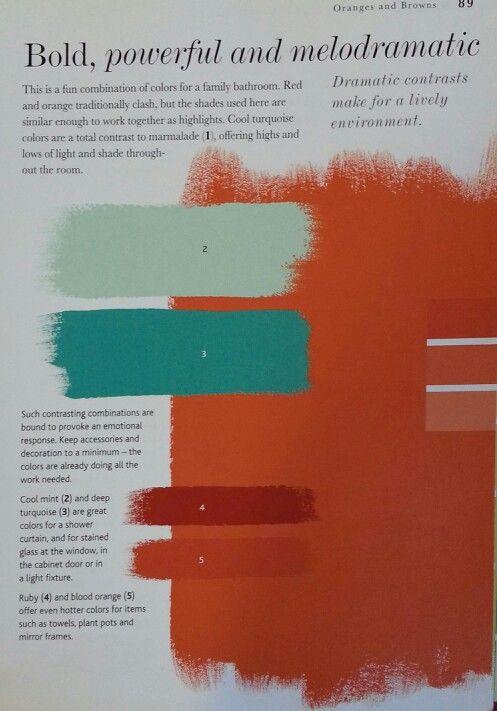 Orange and turquoise color scheme