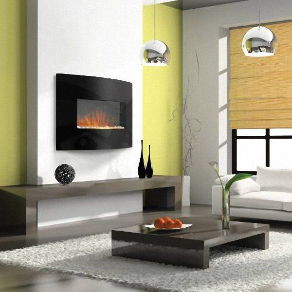 Wall Mount Electric Fireplace With Heater 6b Lounge Pinterest