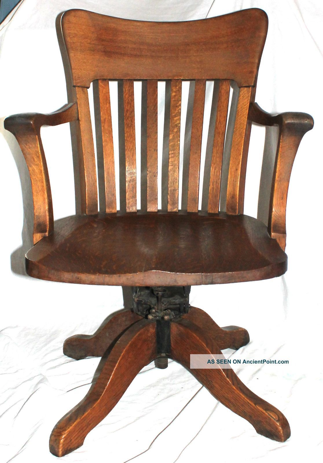 Vtg Early 1900  S Milwaukee Chair Wooden Industrial