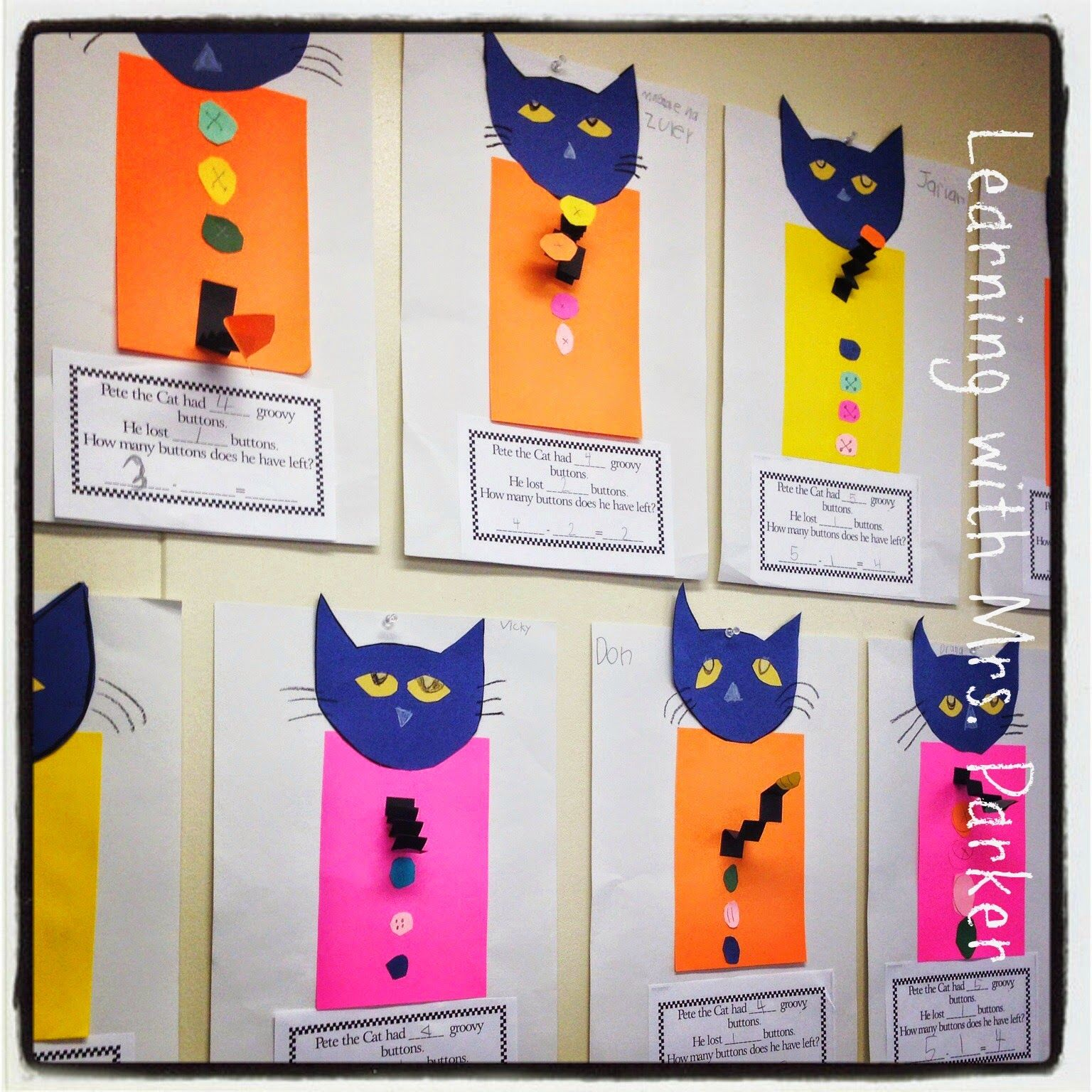 Children Make Their Own Pete The Cat And Create Their Own Subtraction Problems This Later