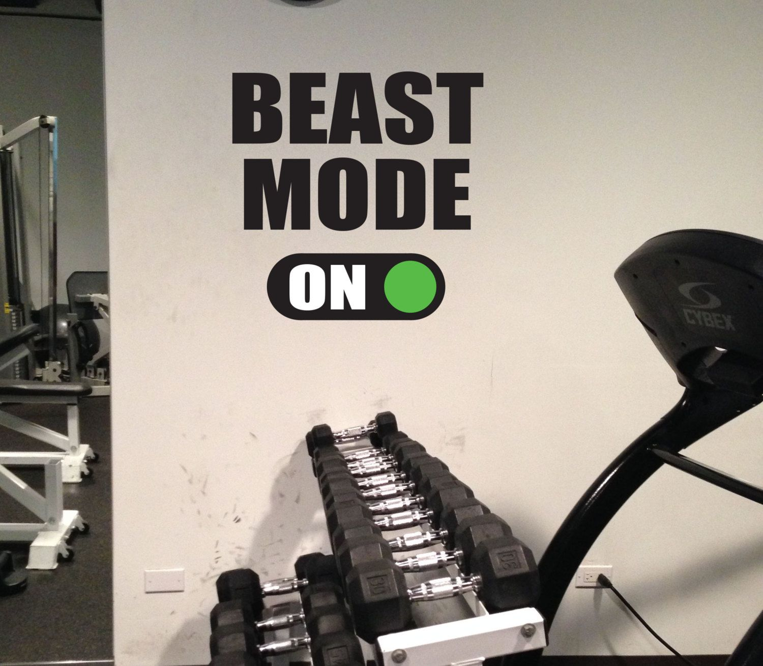 Home Gym Decor BEAST MODE ON Gym Wall Art Vinyl By JandiCoGraphix