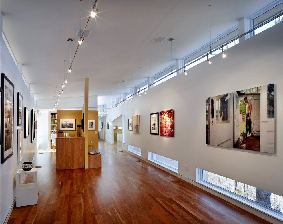 Exquisite Art Display Home Interior Design Contemporary Hall Raleigh Home Loans Art Display Art