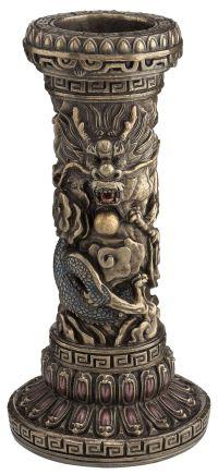 Chinese Dragon Pillar Candle Holder | Oriental | Pinterest ...