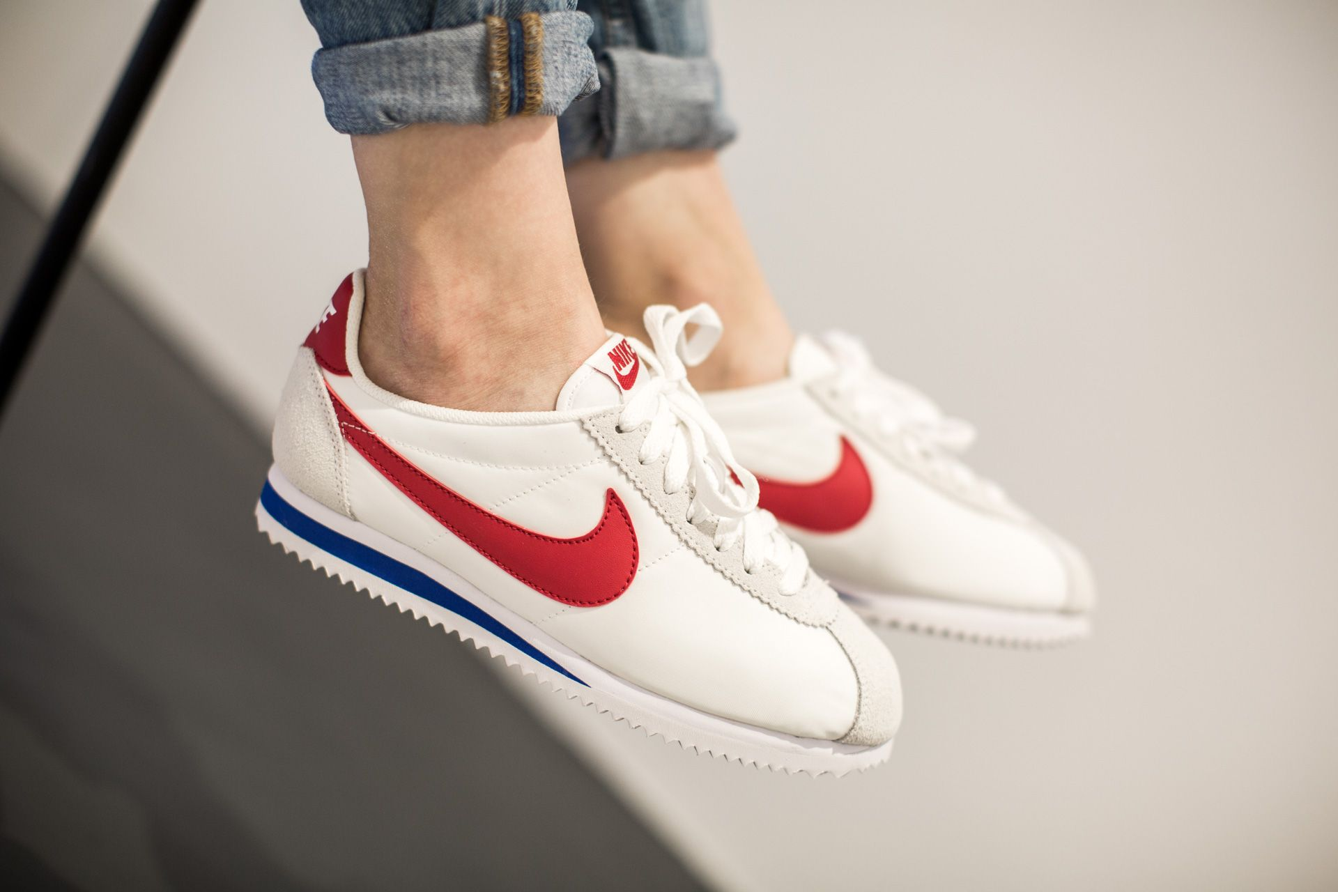 nike classic cortez nylon white varsity red vrsty royal available at tint
