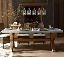Pottery Barn Zinc Top Dining Table