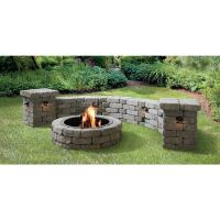Shop allen + roth Allegheny Flagstone Fire Pit Patio Block ...