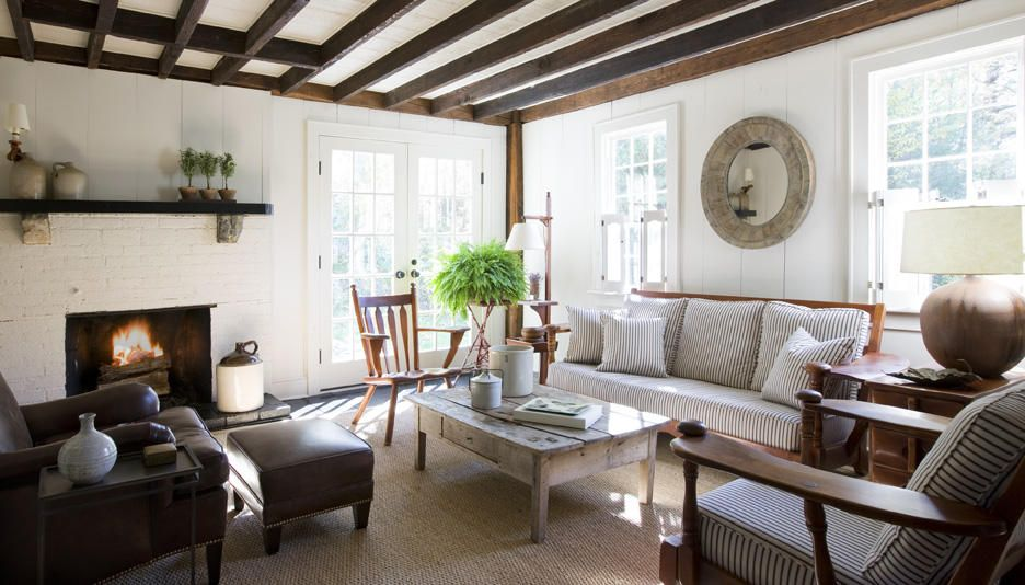 English Cottage Style Living Room