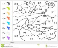 Free Printable Addition And Subtraction Color By Number ...