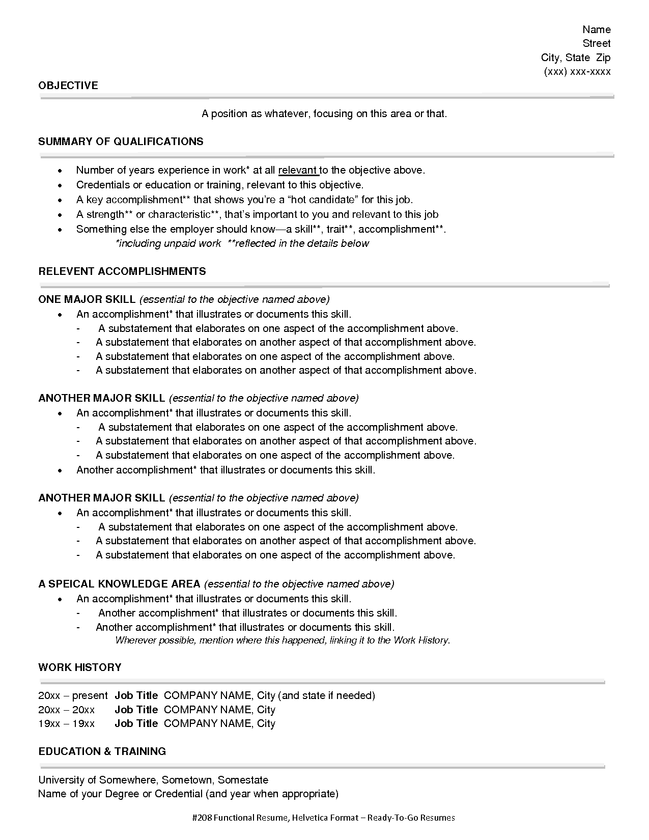 Sample Functional Resume For Nurses Functional Style Resume Sample Functional Resume Style 1