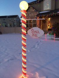 Coolest North Pole Sign DIY! | DIY - Christmas | Pinterest ...