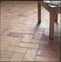 Fired Earths Lubelska flooring, which is reclaimed 19th ...