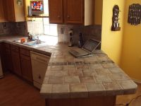 tile kitchen countertops over laminate | tile over ...