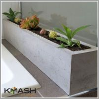 Polished concrete planter; large rectangular 900mm ...