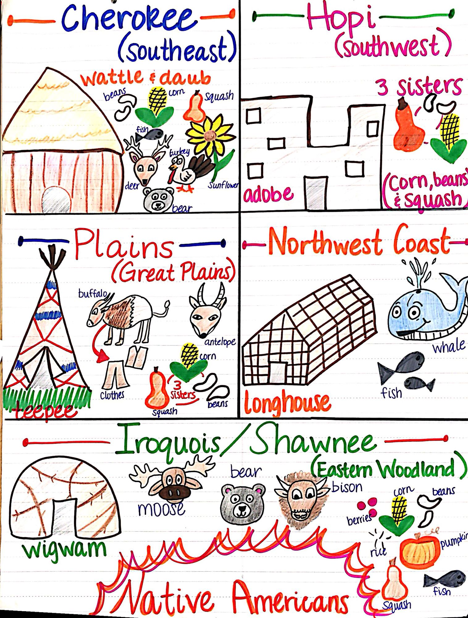 Native American Unit Anchor Chart