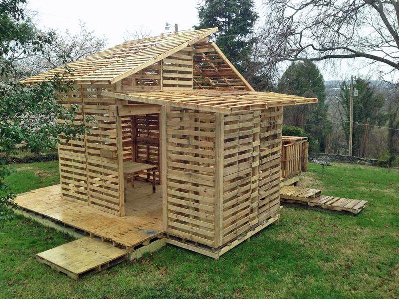 Shipping Pallet House For The Homeless Blog Hgtv Com