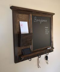 Chalkboard Mail Organizer letter holder Key / Coat / Hat ...