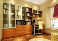 3d Software Render Study Room Design With Yellow Mesh Back ...