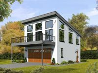 062G-0081: 2-Car Garage Apartment Plan with Modern Style ...