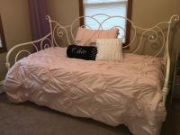 Daybed with Trundle and light pink bedding set from Target ...